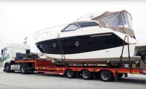 Перевозка негабаритных яхт тралами