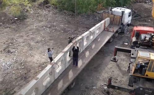 транспортировка железобетонной фермы