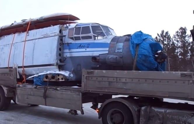 перевозка самолета автотранспортом
